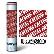 Кровельный материал Катепал U-EL 60/3000 подкладочный ковер (основа стеклохолст)