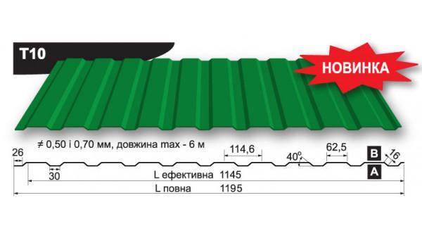 Профнастил Blachy Pruszynski Т-10 в Запорожье по честной цене