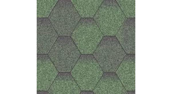 Битумная черепица Aquaizol - Коллекция Мозаика - Зеленый ЭКО - по честной цене