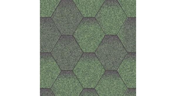 Битумная черепица Aquaizol - Коллекция Мозаика - Зеленый микс - по честной цене