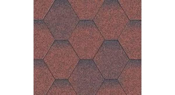 Битумная черепица Aquaizol - Коллекция Мозаика - Красная микс - по честной цене