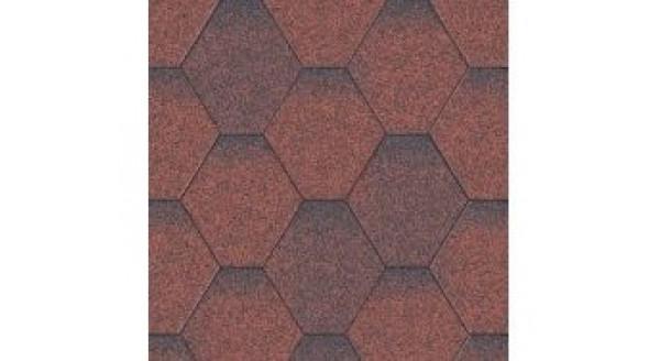Битумная черепица Aquaizol - Коллекция Мозаика - Красный ЭКО - по честной цене