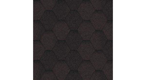 Битумная черепица Aquaizol - Коллекция Мозаика - Коричневый ЭКО - по честной цене