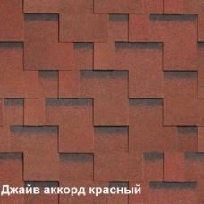 Однослойная битумная черепица Шинглас Джайв Аккорд красный