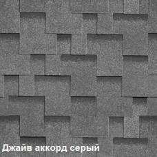 Однослойная битумная черепица Шинглас Джайв Аккорд серый
