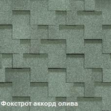 Однослойная битумная черепица Шинглас Фокстрот Аккорд олива