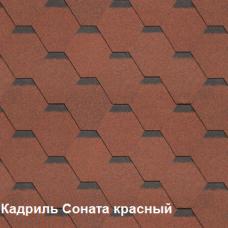 Однослойная битумная черепица Шинглас Кадриль Соната красный