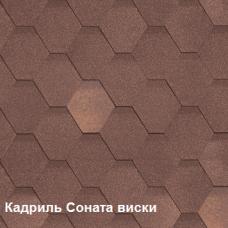 Однослойная битумная черепица Шинглас Кадриль Соната виски