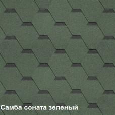 Однослойная битумная черепица Шинглас Самба Соната зеленый