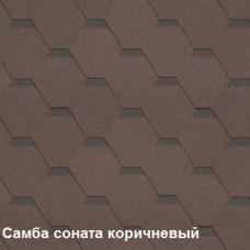 Однослойная битумная черепица Шинглас Самба Соната коричневый