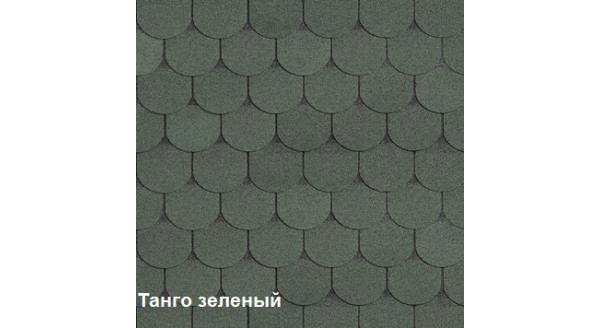 Однослойная битумная черепица Шинглас Танго зеленый купить в Запорожье