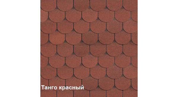 Однослойная битумная черепица Шинглас Танго красный купить в Запорожье