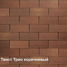 Однослойная битумная черепица Шинглас Твист Трио коричневый