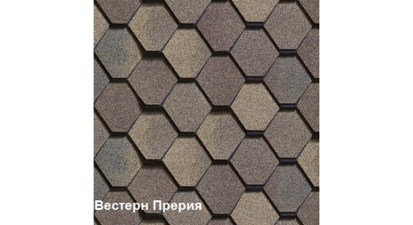 Двухслойная битумная черепица Шинглас Вестерн Прерия купить в Запорожье