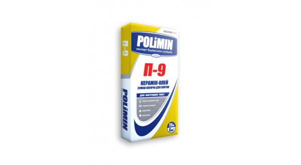 Polimin П-9 Керамик-клей Клеящая смесь для плитки 25кг купить в Запорожье